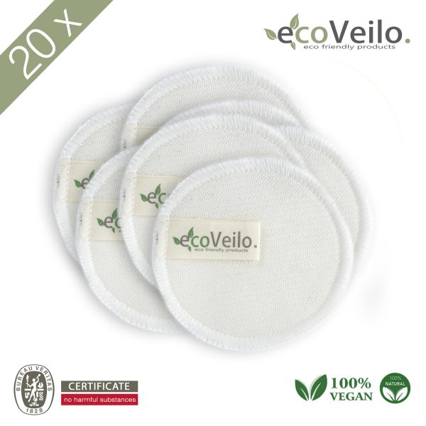 20x Reusable makeup Cottons Pads ecoveilo